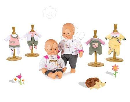 Bábiky s doplnkami sety - Set bábika Baby Nurse Zlatá edícia Smoby 32 cm a 3 šaty pre bábiku od 24 mes