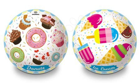 Meselabdák - Gumi meselabda Donuts és Ice Cream Mondo 23 cm