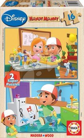 Drevené puzzle Handy Manny Educa 2x 16 dielov