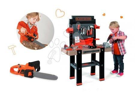 Pracovní dětská dílna - Set pracovní dílna Black+Decker Smoby s vrtačkou a elektronická motorová pila