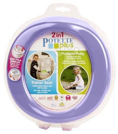 Cestovný nočník/redukcia na WC Potette Plus fialovo-zelený od 15 mesiacov