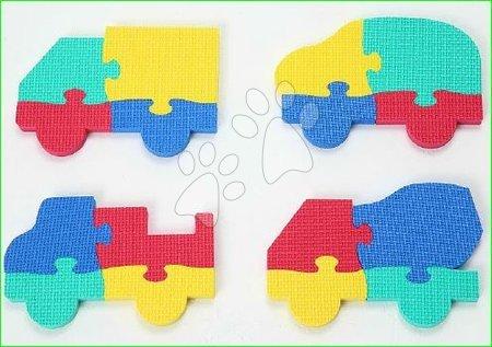 Penové puzzle Autá Lee Chyun v taške pre najmenších 4 diely 16*22*1,3 cm od 0 mes