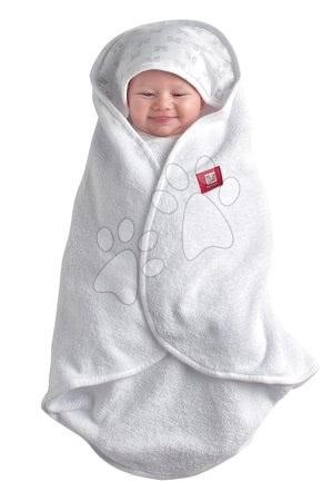 Fürdőlepedő csecsemőnek Babynomade® Red Castle pólyakendő fehér