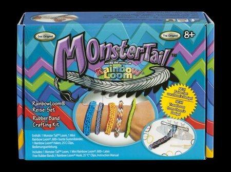 Cestovní set Monster Tail Rainbow Loom 600 ks gumiček od 8 let