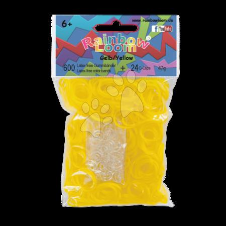 Rainbow Loom eredeti gumik 600 darab sárga 6 évtől