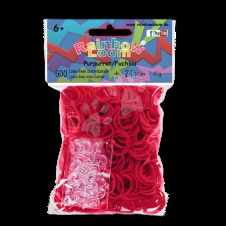 Rainbow Loom eredeti gumik 600 darab fukszia 6 évtől