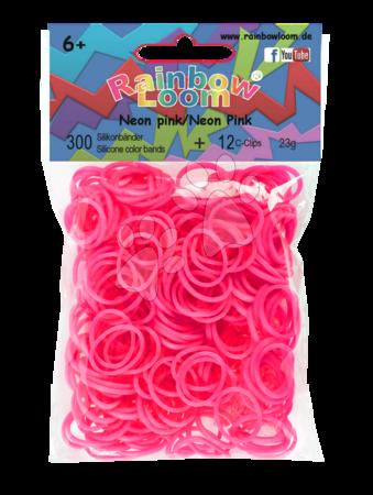 Rainbow Loom originálne gumičky 300 kusov neónovoružové od 6 rokov