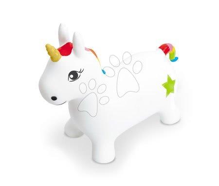 Jednorožec na skákanie Unicorn Ride on Mondo gumený biely