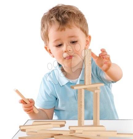 Fa gyerekjátékok - Fa építőkockák Wooden Construction Kit Eichhorn természets fából 200 darabos 2 évtől_1