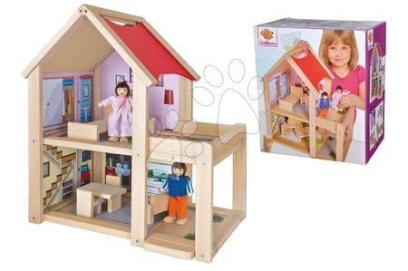 Eichhorn - Drvena kućica za figurice Doll's House Eichhorn potpuno opremljena s namještajem i 2 figurice visina 41 cm_1