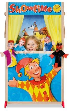 Eichhorn - Drveno lutkarsko kazalište Puppet Theatre Eichhorn s bajkovitim prizorom i zavjesom 110 cm visina_1