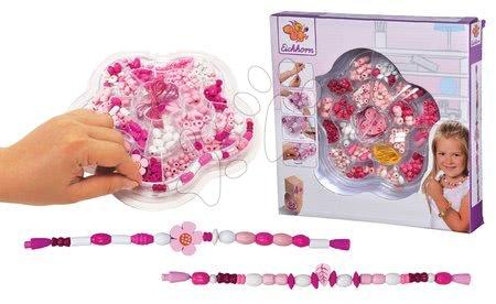 Detský kozmetický stolík - Drevené koráliky Kvetina Wooden Bead Eichhorn ružový s doplnkami 275 dielov od 4 rokov_1