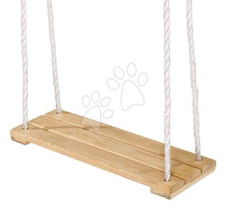 Gyerekhinták - Fa laphinta Plank Swing Outdoor Eichhorn natúr 140-210 cm hosszú 40*14 cm és 60 kg teherbirás 3 évtől