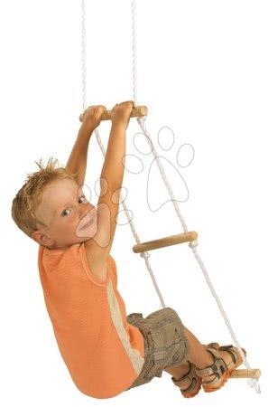 Gyerekhinták - Fa kötéllétra Rope Ladder Outdoor Eichhorn natúr 170 cm hosszú 60 kg teherbirással 3 évtől_1