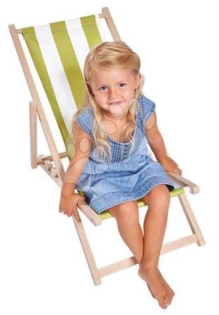 Eichhorn - Drevené lehátko skladacie pre deti Outdoor Kids Sunchair Eichhorn s pásikavým poťahom nosnosť 40 kg výška sedu 30 cm od 3 rokov EH4547_1