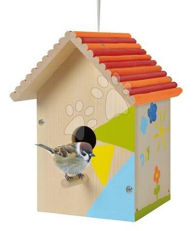 Drvena kućica za ptice Outdoor Birdhouse Eichhorn Složi i oboji - s kistom i bojama od 6 godina
