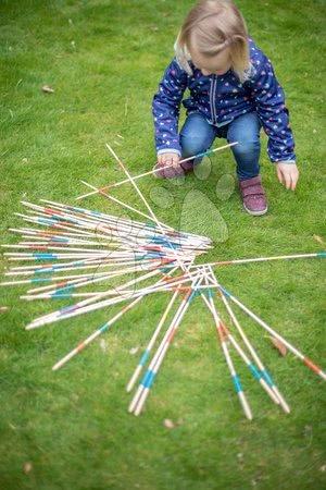 Jocuri de societate - Mikado din lemn Outdoor Eichhorn bambus colorat 41 bețe 50 cm lungime_1