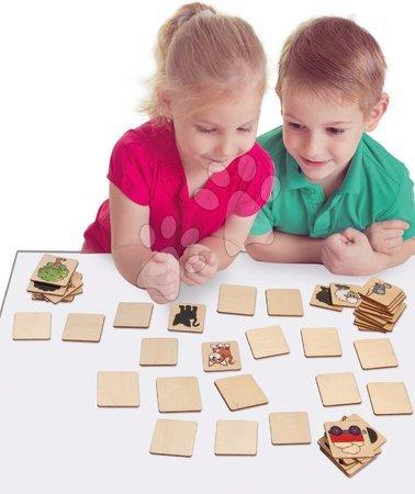 Jocuri de societate - Pexeso din lemn Picture Memo Game Eichhorn 72 cuburi cu 36 moive de la 4 ani_1