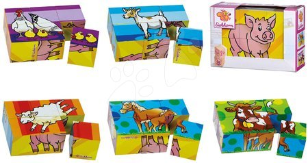 Pohádkové kostky - Dřevěné puzzle kostky Picture Cube Small Eichhorn 6 kostek se 6 motivy od 24 měsíců_1