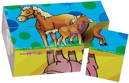 Pohádkové kostky - Dřevěné puzzle kostky Picture Cube Small Eichhorn 6 kostek se 6 motivy od 24 měsíců