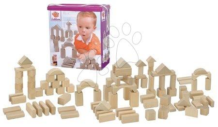 Dřevěné stavebnice - Dřevěné kostky Natural Wooden Blocks Eichhorn v přírodním zpracování 100 kusů velikost 25 mm od 12 měs