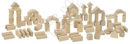 Dřevěné stavebnice - Dřevěné kostky Natural Wooden Blocks Eichhorn v přírodním zpracování 100 kusů velikost 25 mm od 12 měs_1