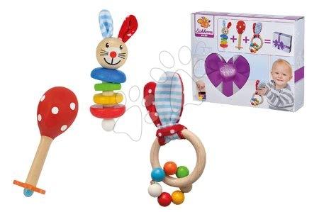 Chrastítka a kousátka - Dárkový set pro novorozence Rabbit Present Baby Eichhorn chrastítka s plyšovými oušky a rumba koule od 0 měsíců