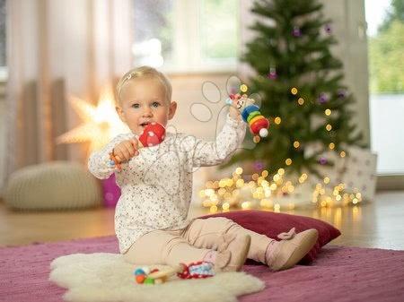 Chrastítka a kousátka - Dárkový set pro novorozence Rabbit Present Baby Eichhorn chrastítka s plyšovými oušky a rumba koule od 0 měsíců_1