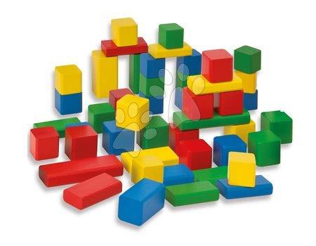 Dřevěné stavebnice - Dřevěné kostky Coloured Wooden Blocks Eichhorn barevné 50 kusů od 12 měsíců velikost 2,5 cm EH21252