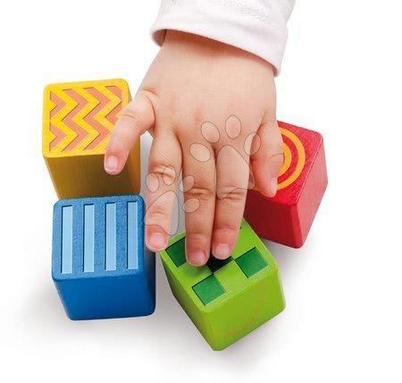 Dřevěné stavebnice - Dřevěné kostky Feel and Sound Blocks Eichhorn vzorované 20 kusů 4 kostky s texturou a 2 zvukové velikost 40 mm od 12 měsíců_1