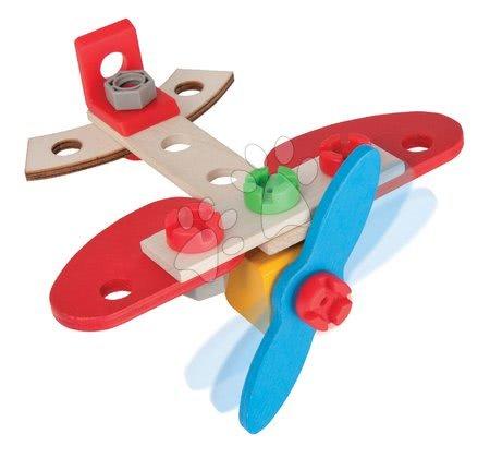 Dřevěné stavebnice - Dřevěná stavebnice letadlo Constructor Airplane Eichhorn jeden model 18 dílů