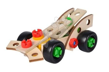 Dřevěné stavebnice - Dřevěná stavebnice tři závodní auta Constructor Racer Eichhorn Formule 1 a 2 vozidla 35 dílů_1