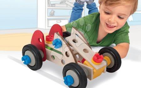 Dřevěné stavebnice - Dřevěná stavebnice závody Constructor Racer Eichhorn tři modely (minibuggy, formule 1, závodní auto) 50 dílů_1