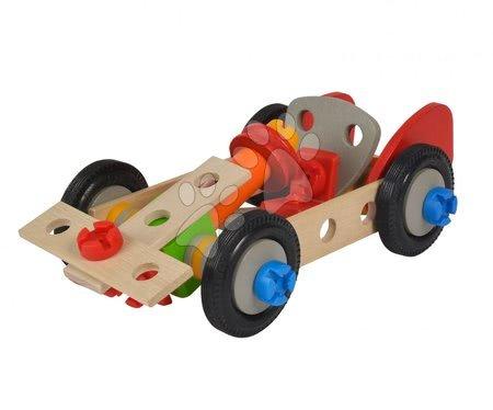Dřevěné stavebnice - Dřevěná stavebnice auta Constructor Pedal Car Eichhorn tři modely (traktor, auto a závodní auto) 65 dílů_1