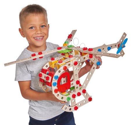 Eichhorn - Drvene kocke helikopter Constructor Helicopter Eichhorn 5 modela (helikopter, borbeni zrakoplov, brod, tegljač, hidroavion) 225 dijelova od 6 godina_1