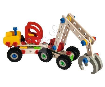 Fa gyerekjátékok - Fa építőjáték kombájn Constructor Mobile Harvester Eichhorn 3 modell (kombajn, munkagép, teherautó) 140 darabos 5 évtől_1