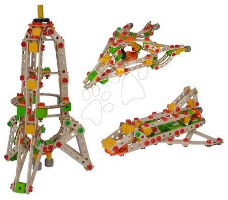 Joc de construit din lemn Univers Rocket Constructor Tool Box Eichhorn navă spațială rachetă și navetă spațială 250 piese de la 6 ani