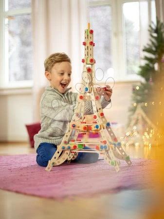 Eichhorn - Drvene kocke Eiffelov toranj Constructor Eiffel Tower Eichhorn 3 modela (Eiffelov toranj, vjetrenjača, Slavoluk pobjede) 315 dijelova od 6 godina_1