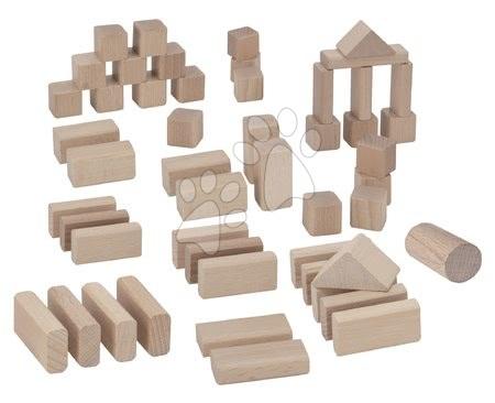 Dřevěné stavebnice - Dřevěné kostky Natural Wooden Blocks Eichhorn v přírodní barvě 50 kusů velikost 25 mm od 12 měsíců