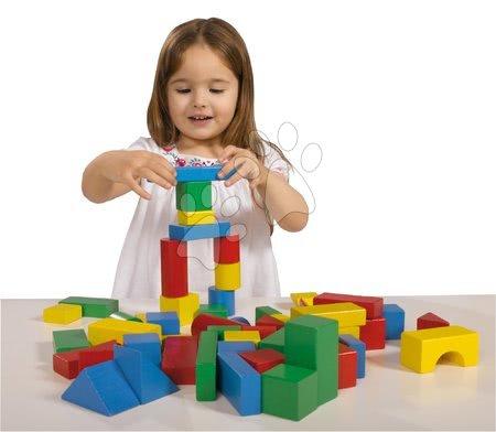 Dřevěné stavebnice - Dřevěné kostky barevné Coloured Wooden Blocks XL Baby Eichhorn extra velké 50 kusů velikost 40 mm od 12 měsíců_1