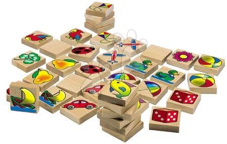 Jocuri de societate - Pexeso din lemn Picture Memory Game Eichhorn cu 20 imagini și 40 piese