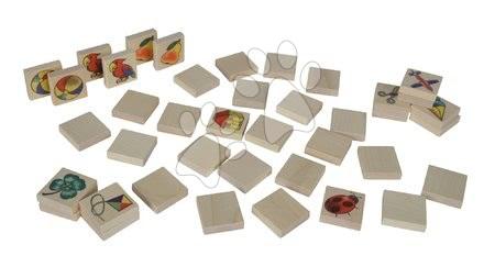 Jocuri de societate - Pexeso din lemn Picture Memory Game Eichhorn cu 20 imagini și 40 piese_1