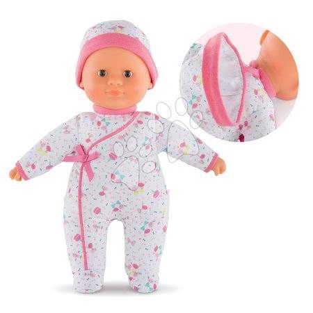Panenky od 9 měsíců - Panenka Sweet Heart Birthday Corolle s hnědýma očima a snímatelnou čepičkou 30 cm od 9 měs