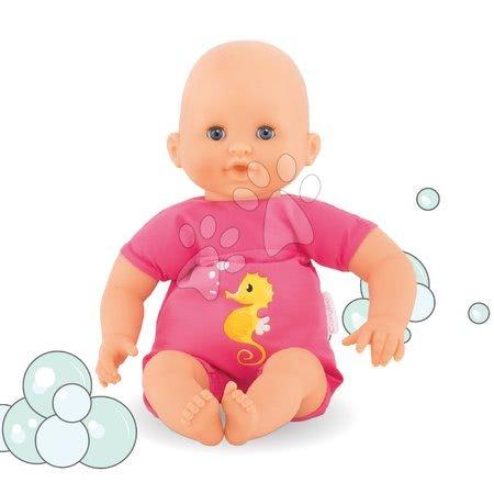 Panenky pro dívky - Panenka na koupání Bebe Bath Plouf Fuchsia Corolle s modrými mrkacími očima 30 cm od 18 měs