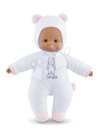 Panenky od 9 měsíců - Panenka medvídek Sweet Heart White Bear Corolle s černými očima a snímatelnou kapucí s oušky 30 cm bílá od 9 měs