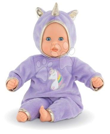 Corolle - Păpușă Bebe Calin Unicorn Corolle cu ochi albaștri clipitori și biluțe 30 cm de la 18 luni