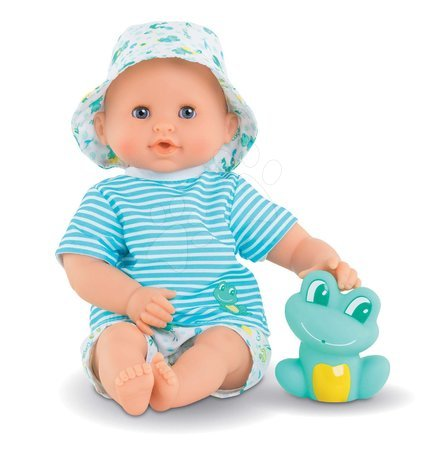 Corolle - Păpușă pentru baie Baby Bath Marin Mon Premiere Corolle cu ochi albaștri clipitori și broască 30 cm de la 18 luni