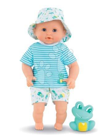 Corolle - Păpușă pentru baie Baby Bath Marin Mon Premiere Corolle cu ochi albaștri clipitori și broască 30 cm de la 18 luni_1