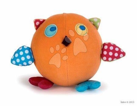 Chrastítka a kousátka - Plyšová sovička Colors-Activity Owl Kaloo pískací s chrastítkem 16 cm v dárkovém balení