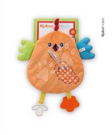 Chrastítka a kousátka - Plyšové kuřátko Colors-My Sweet Doudou Chick Kaloo s kousátkem 25 cm pro nejmenší